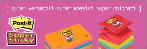 Scopri tutti i colori di Post-it® Super Sticky disponibili a catalogo!