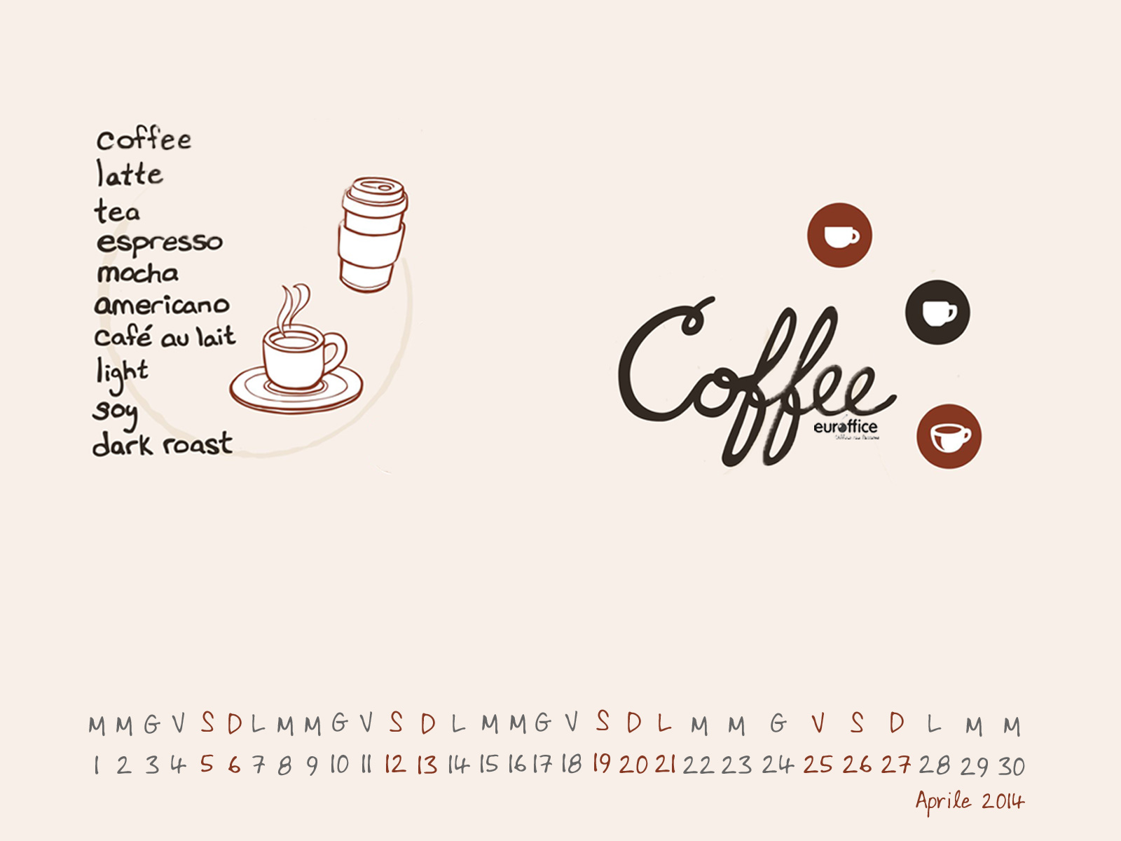 Wallpaper aprile 2014 - Coffee addicted