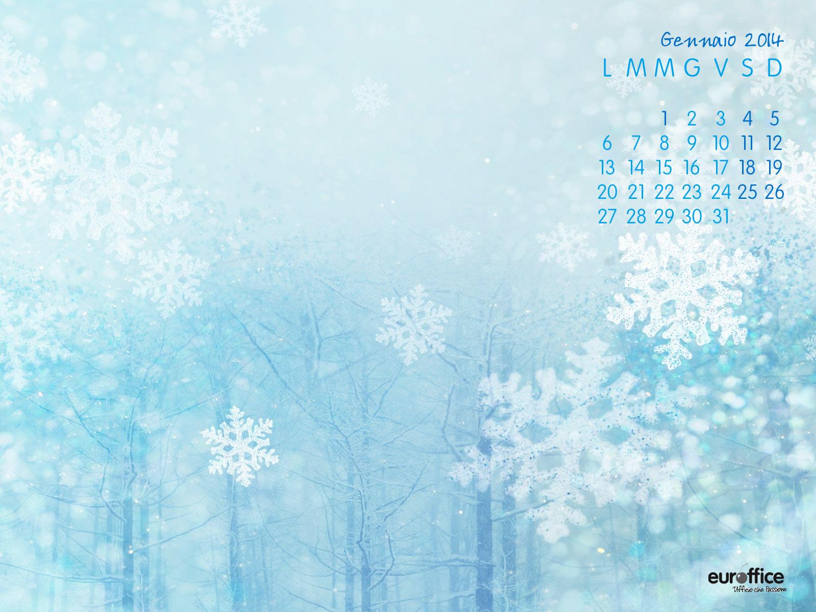 Wallpaper gennaio 2014 - Fiocchi di neve