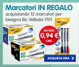 Marcatori Ink Pocket IN REGALO con Bic Velleda 1701