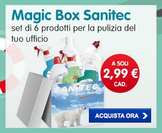 Magic Box Sanitec: 6 prodotti per la pulizia a prezzo speciale