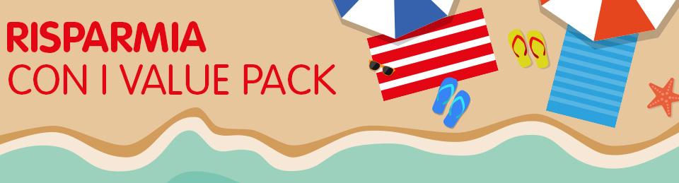 Saldi estivi: risparmia con i value pack!