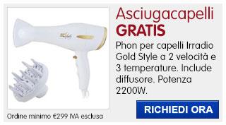 Asciugacapelli Irradio IN REGALO
