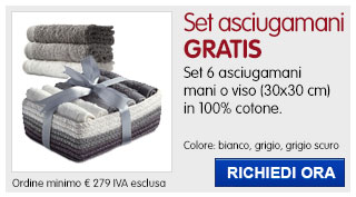 Set asciugamani Coffret IN REGALO