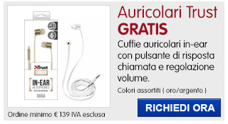 Cuffie auricolari Duga Trust IN REGALO