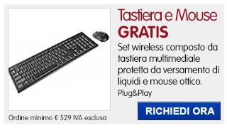 Set tastiera+mouse IN REGALO