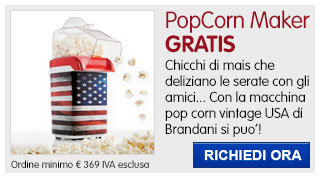 Macchina Pop corn USA Vintage Brandani IN REGALO