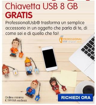 Chiavette Professional USB 8GB IN REGALO: scegli la tua preferita!