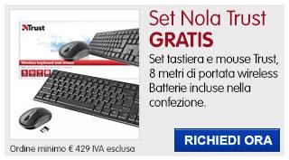 Set tastiera + mouse Trust IN REGALO