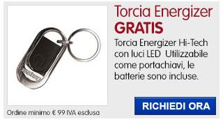 Torcia portachiavi Energizer IN REGALO