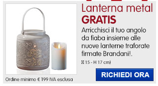 Lanterna Flora Brandani IN REGALO