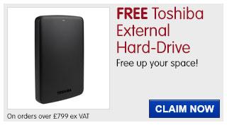 FREE Toshiba External Hard-Drive